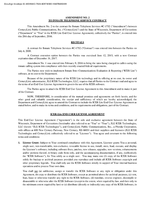 Wi Doc Centurylinkembarq Amendment 2 Prison Phone Justice