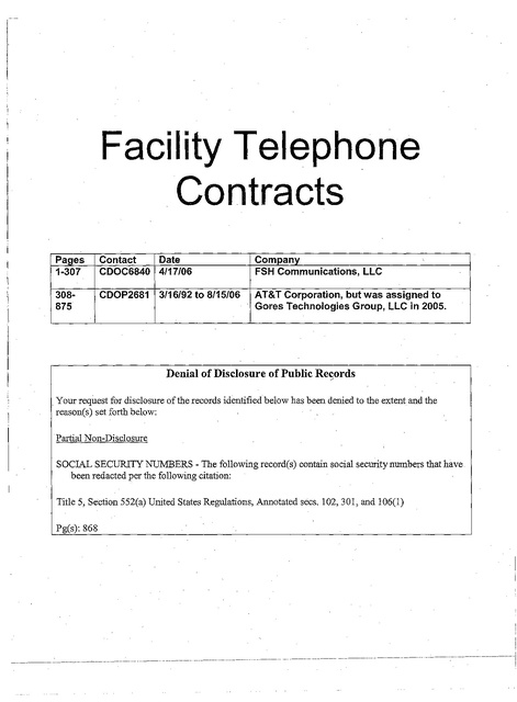 WA Contract with FSH 2006 | Prison Phone Justice