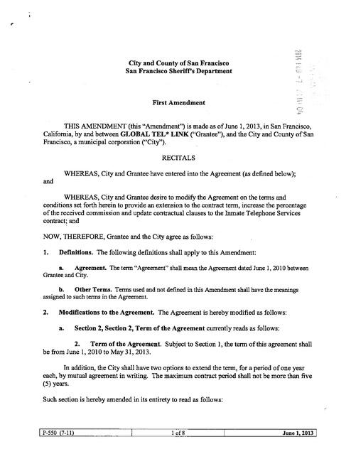Ca san francisco county contract with gtl amendment 1 extending brief thumbnail platinumwayz