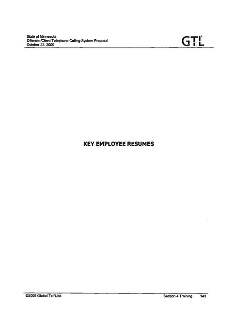 MN GTL Contract Proposal 2009 Part 3 | Prison Phone Justice